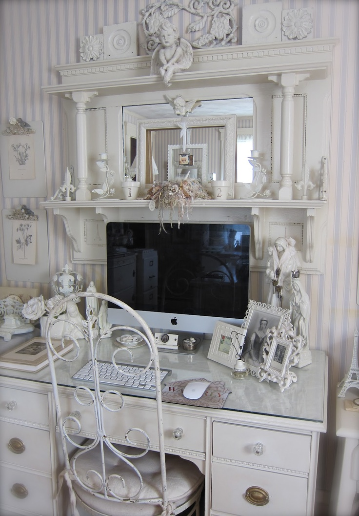 96 best images about shabby chic home office on pinterest romantic shabby chic desk and kelly. Black Bedroom Furniture Sets. Home Design Ideas
