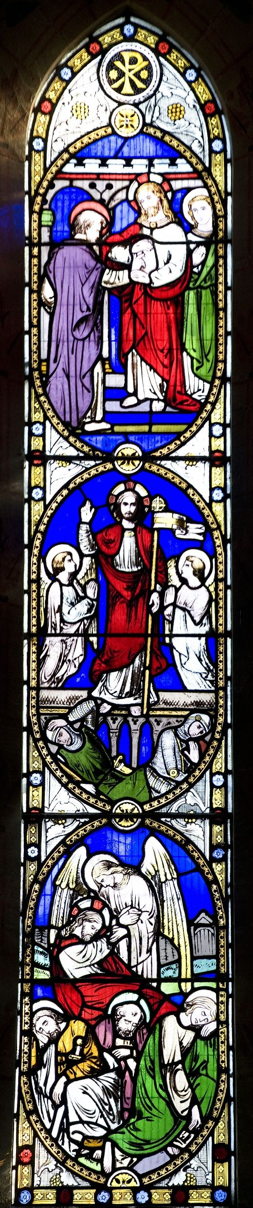Leafield-Church Stained Glass