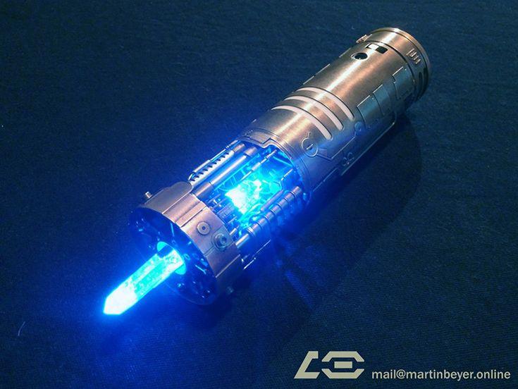 A Highly Detailed Fan-Made Replica of Anakin and Luke Skywalker's Blue Lightsaber