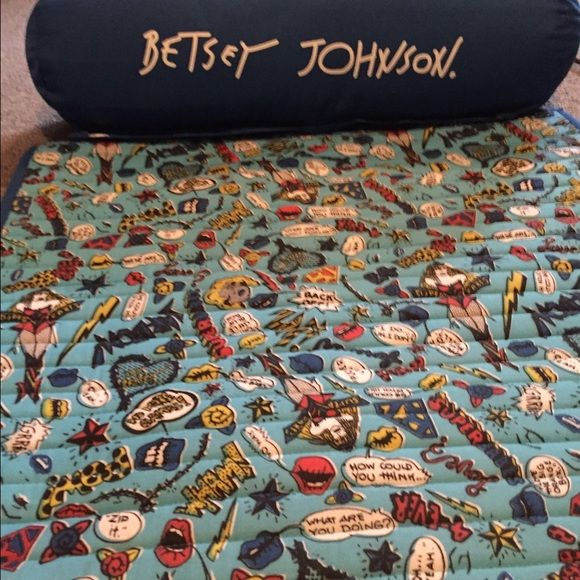 """Betsey Johnson bath/beach mat Very sassy!! Just like Betsey style. """"Super babe"""" flies all over this darling must have beach item! Betsey Johnson Other"""
