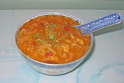 Peking Suppe - Süß Sauer Suppe 4