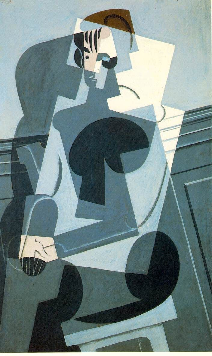 Juan Gris - Retrato de Josette, 1916. At first Gris painted in the style of Analytical Cubism, a term he himself later coined, but after 1913 he began his conversion to Synthetic Cubism, of which he became a steadfast interpreter, with extensive use of collage.