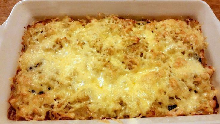 Rösti ovenschotel met kip en spinazie