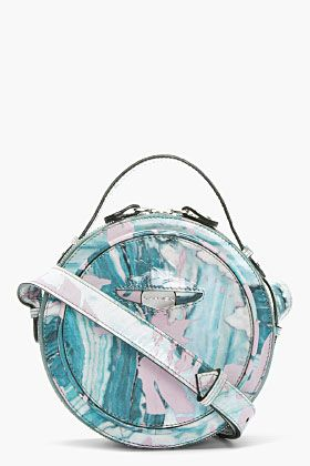 Carven Leather Marbled Bag.