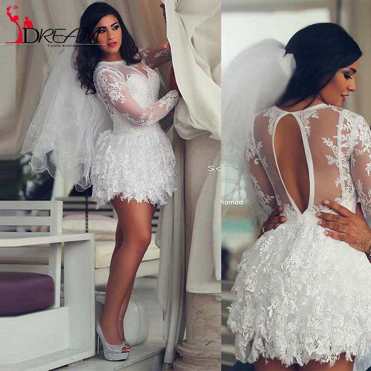 Find More Wedding Dresses Information about Newest Short Lace Wedding Dresses 2016 Puffy Saudi Arabic Long Sleeve Beach Bride Dresses Applique Ball Gowns Cheap Bridal Gown,High Quality gown dress,China gown Suppliers, Cheap gowns blue from Orenda Wedding Dress Factory on Aliexpress.com