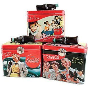 Vintage Coca-Cola Home Decor - love these lunch boxes (ok, so I actually use mine to store cords not food...)