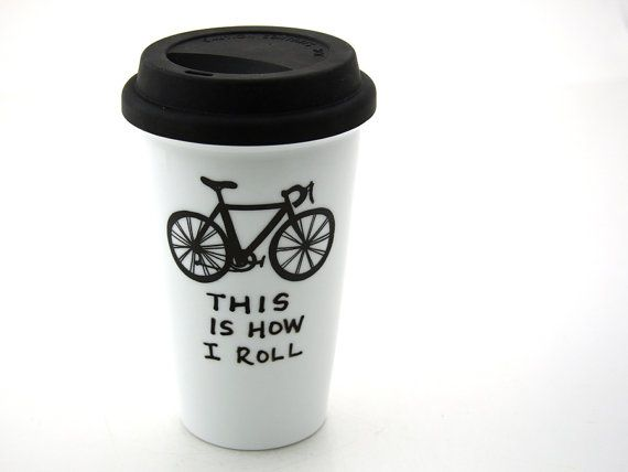 Bicycle travel mug. (Richard has mentioned wanting a travel mug lately; this would be cute for him.)