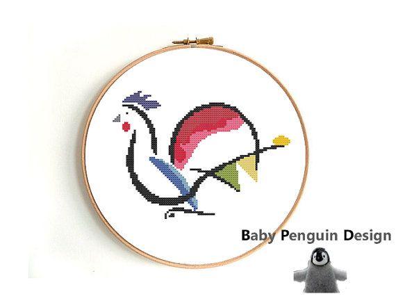 Cross stitch pattern modern funny PDF by BabyPenguinDesign