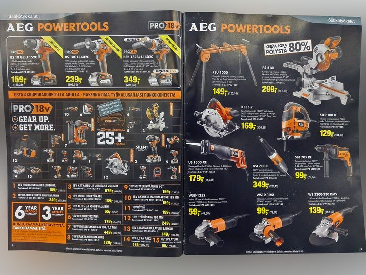 AEG Powertools, drill, saw, bench, circular saw, sander - Akkutyökalut, akkuporakone, saha, sirkkeli, hiomakone, laikka. Virtasenkauppa - Verkkokauppa - Online Store.