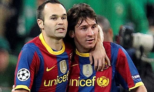 Leo Mesi i Andrés Iniesta