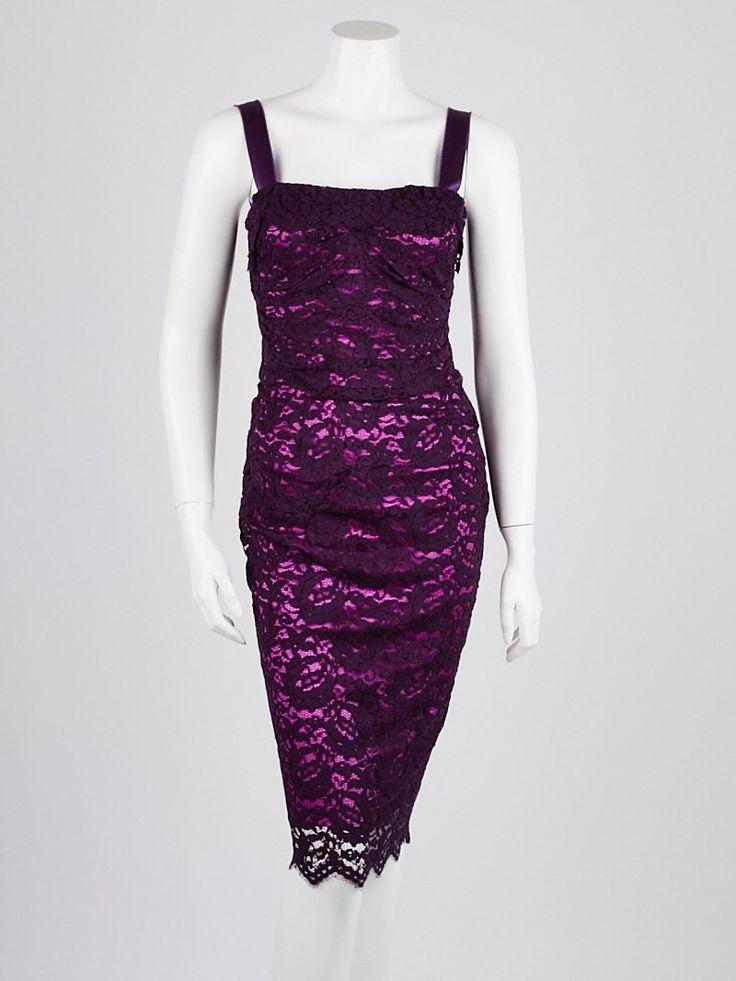 Purple lace dress size 6