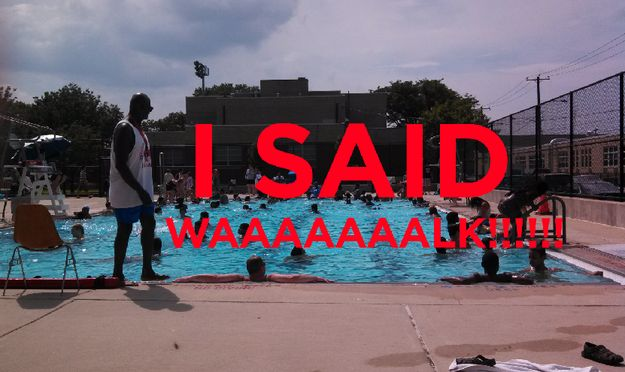And not only do little kids shit, they are LITTLE SHITS who don't respect your authority. | 25 Problems Only People Who Have Worked At A Pool Understand