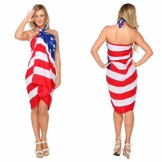 Patriotic designed sarong wrap is an alluring and attractive item to add to your wardrobe