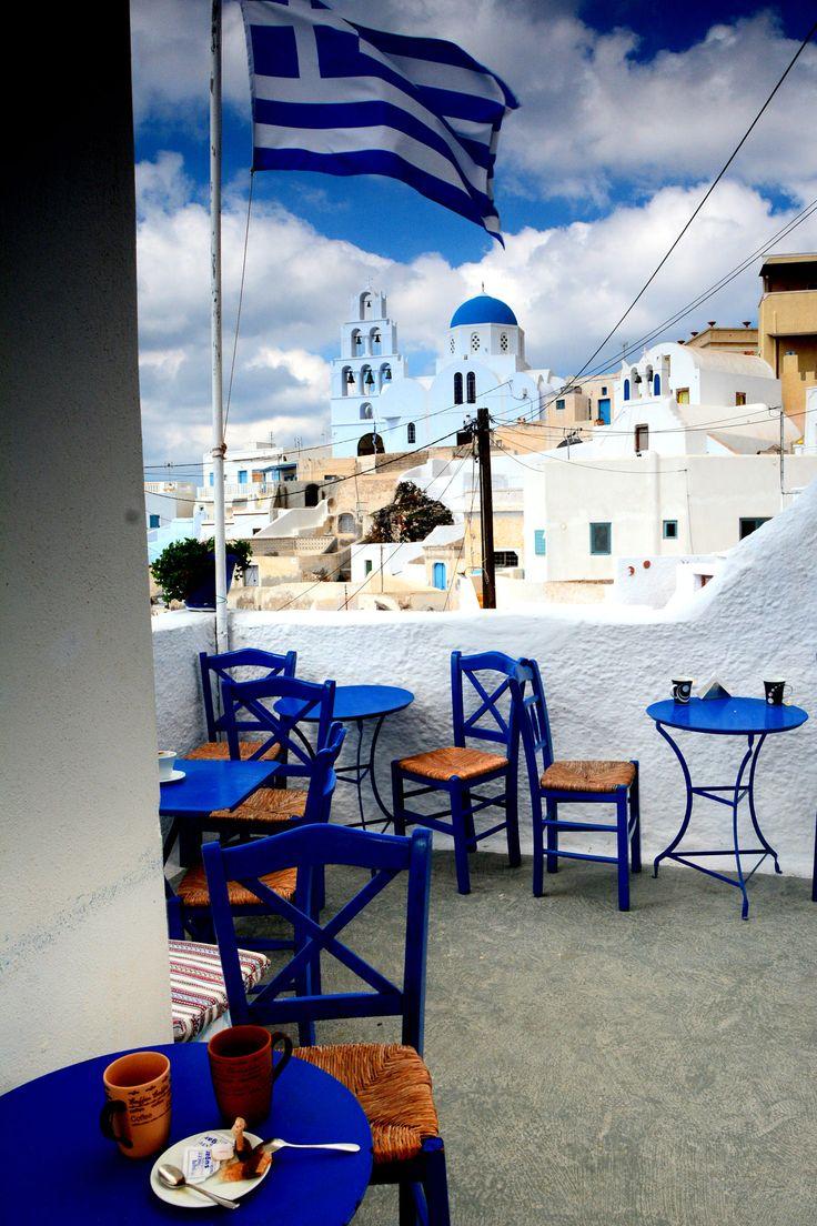 Mini coffee in Pirgos,Santorini,Greece