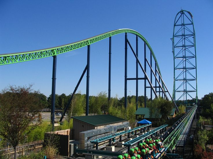 Kingda Ka in Six Flags, New Jersey                             206 kph in 3.5 seconds, 139m high :)