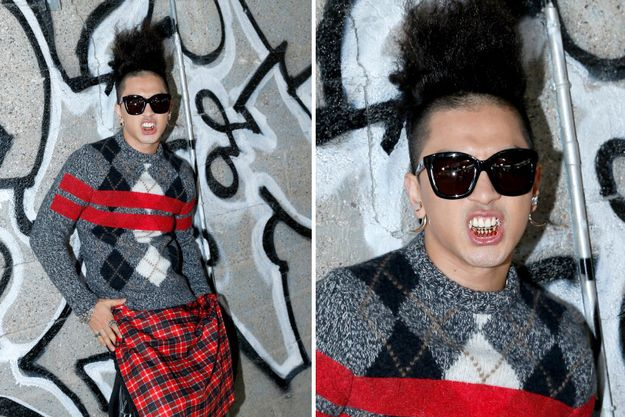 K-Pop Taeyang superstar attended the spring 2014 Givenchy menswear show in Paris. | Meet K-Pop Star Taeyang, Fashion's Finest New Front Row Seat Filler