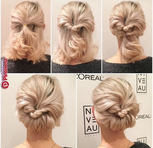 Pin By Hannah Miller Graphic Designe On Coiffures Short Hair Prom Updos Bridesmaid Hair Updo Short Hair Styles