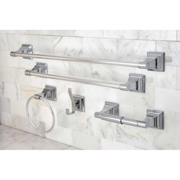 Kingston Brass 5 Piece Bathroom Accessory Set In Polished Chrome