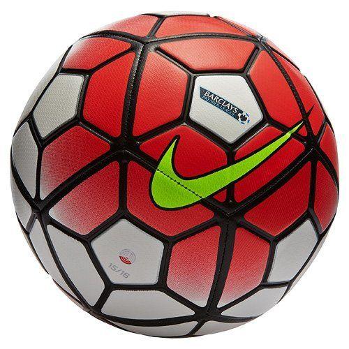 Nike Strike-PL-Ballon de football, Blanco / Naranja / Negro / Lima (White/Brtcrm/Black/Volt)