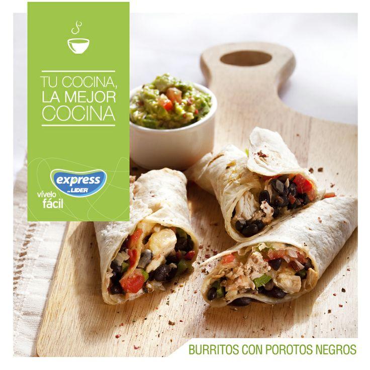 Burrito de porotos negros. #Recetario #Receta #RecetarioExpress #Lider…