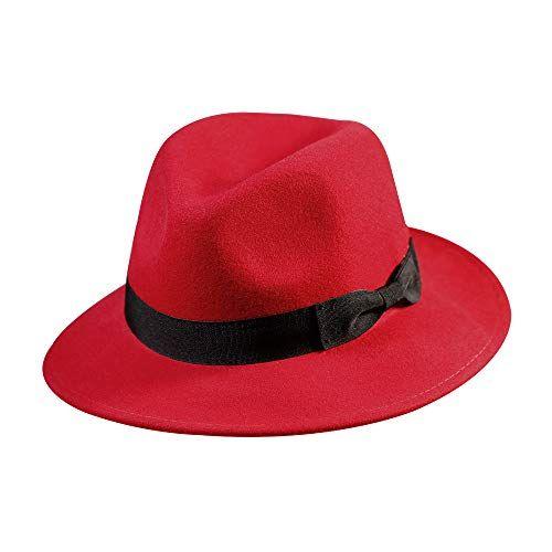 16b8f00b1cc5 New Samplife Wool Fedora Hat-Women s Felt Floppy Panama Hats Vintage  Classic Ladies Wide Brim Cap s. Women Hats   18.98 offerdressforyou