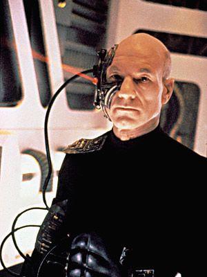 Star Trek: The Next Generation, Patrick Stewart   Picard gets Borgified, Season 3