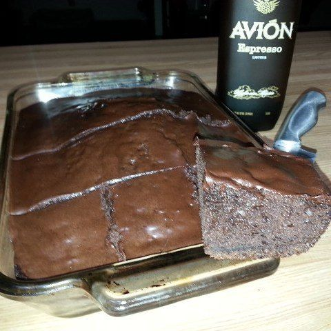 I made this cake with @tequilaavion Espresso in the @tequilaaficionado Test Kitchen. It was as rich as it looks! http://tequilaaficionado.com/2014/04/16/avion-espresso-cake/