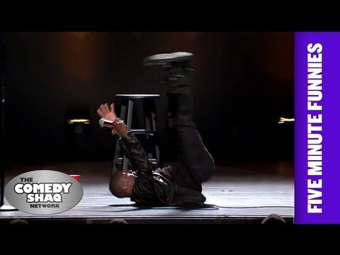 Kevin Hart and people falling. The part about women falling is so true.