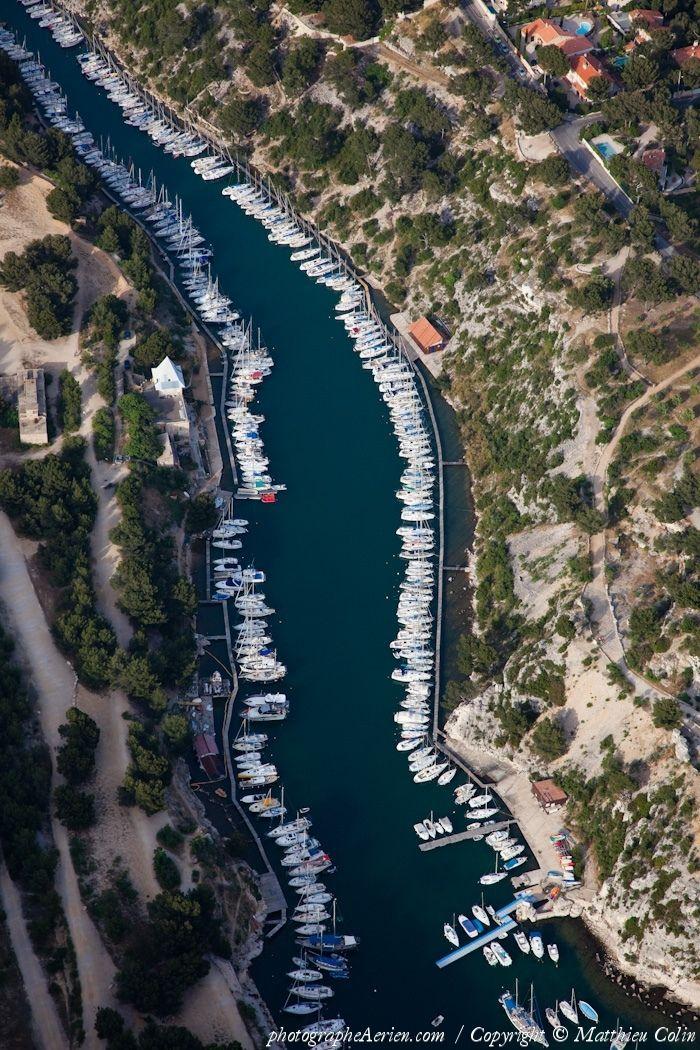 ✈️ Photo aérienne de : Calanque de Port Miou - Bouches-du-Rhône (13)
