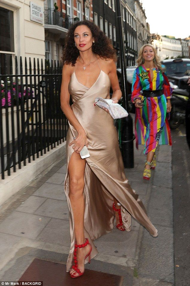 Lilly Becker 42 Showcases Her Svelte Figure In Slinky Gown