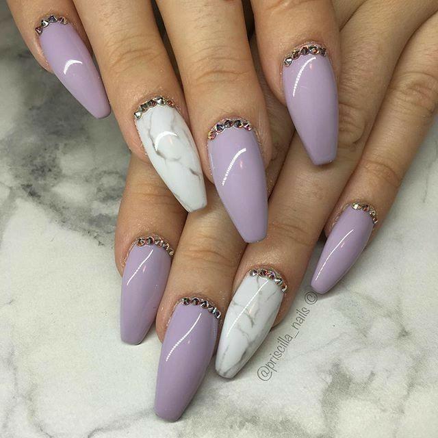 Lilac Nails. Violet Nails. Marble Nails. Ballerina Nails ...