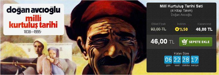 Günün Fırsatı: %50 İNDİRİM!  Millî Kurtuluş Tarihi Seti (4 Kitap Takım) Doğan Avcıoğlu Tekin Yayınevi  http://www.hesapkitap.com/milli-kurtulus-tarihi-seti.html