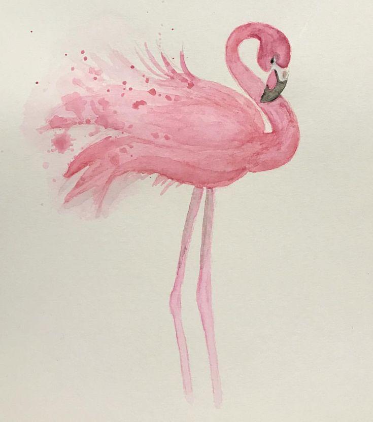 картинки карандашом фламинго средние такое
