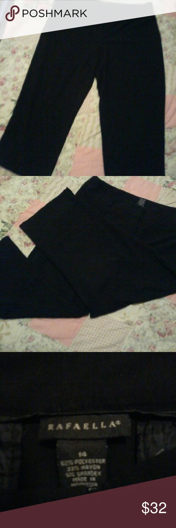 Rafaella black trouser capris sz14 Rafaella, black, sz14, trouser capris, excellent condition, no flaws Rafaella Pants Capris