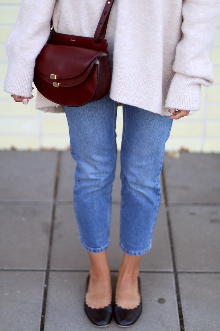 chlo bags - Outfit: Cropped \u0026amp; Oversized | Georgia, Vintage Bag and Cropped Jeans