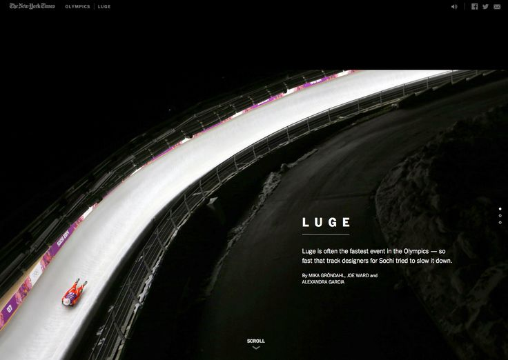 #NYT #Soci #Olympics 2014 #Luge #multimedia #editorial feature #scrolling #archive