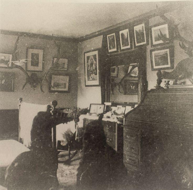 Louis' Bedroom (interior), Historic photo, Possibly bedroom under studio at Olana