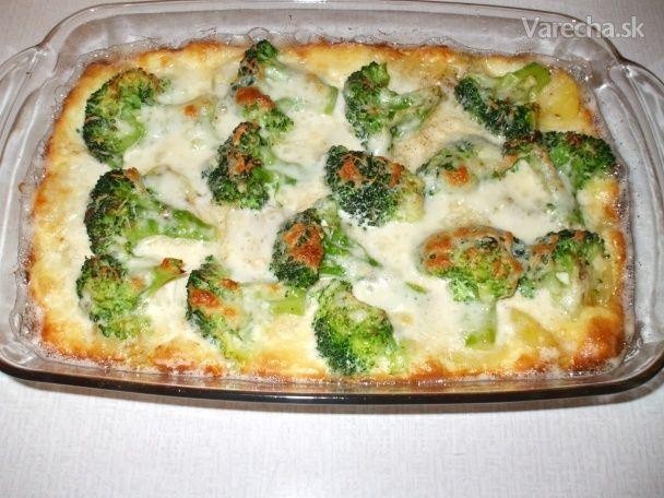 Zapekaná brokolica so zemiakmi a syrom (fotorecept) - Recept