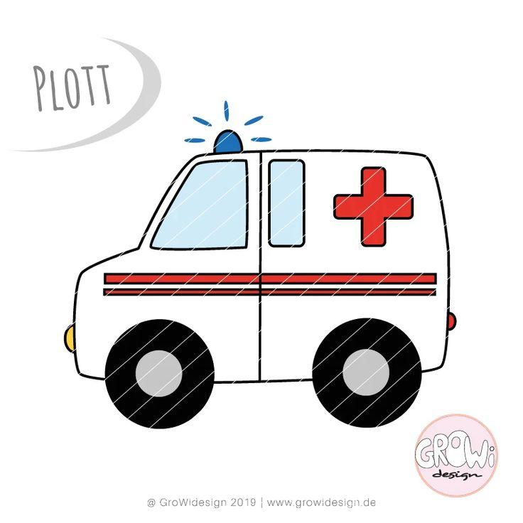 Bei Diesem Angebot Handelt Es Sich Um Die Plotterdatei Krankenwagen Von Growidesign Du Erhalst Die Dateiformate Dxf Sv Plotterdatei Krankenwagen Nahzubehor