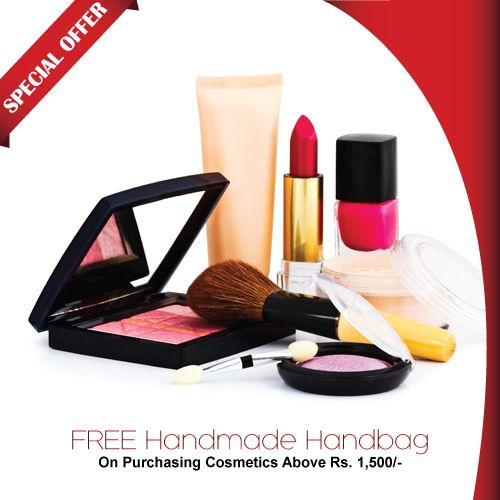 Super Value Offer On #Cosmetics Brands !! Fabulous Handmade Hand #Bag FREE!! Visit: http://shopindeal.com/Details/-Gorgeous-Handmade-Hand-Bag-FREE-On-Purchase-OF-Cosmetics-Above-1500--Only-/564/Vimanagar