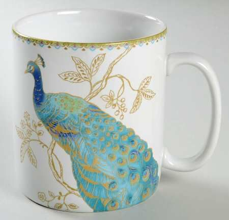Jumbo Mug In Peacock Garden By 222 Fifth (PTS) At Replacements, Ltd.