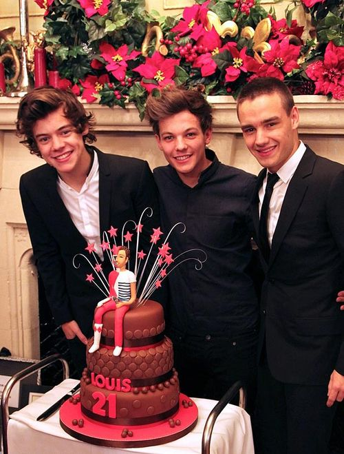 LOUIS IS A PERPETUAL CHILD WITH HIS HALF POWER RANGER HALF LOUIS CAKE