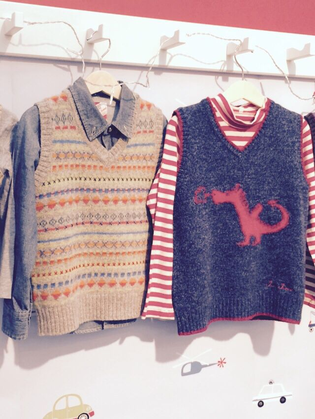 Gorgeous autumnal knitwear for little boys from Jump Junior