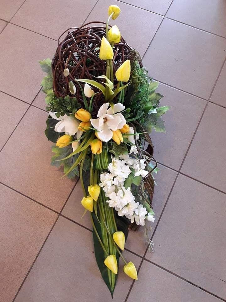 Wielkanocne Dekoracje Easter Floral Arrangement Funeral Flowers Fall Decorations Porch