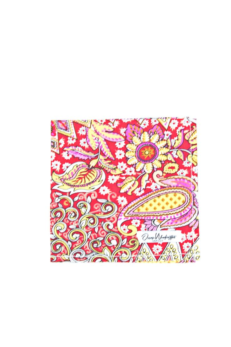 Indian Red Pocket Square