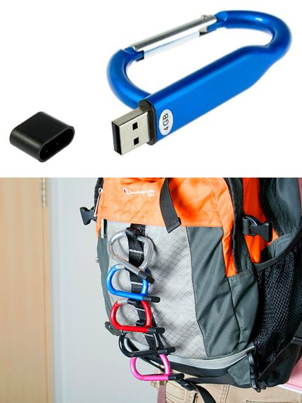USB Flash Drive Carabiner