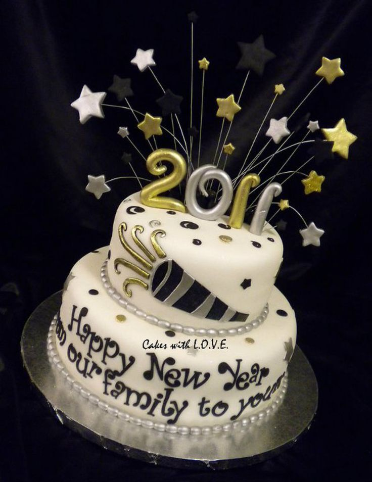 happy new year cake - Google Search