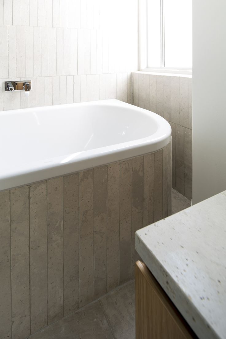 (c) Brett Boardman Bathroom Bath Stone Tiles