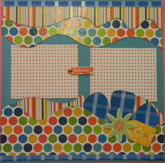 This is another fun, bright summer or vacation layout. When I look at it, I even think of using it for my personal Disney vacation. The colors are