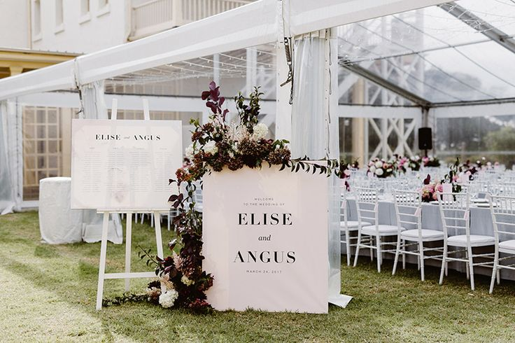Blush modern wedding signs | Welcome sign | Table seating chart | Melbourne wedding | Something Peach